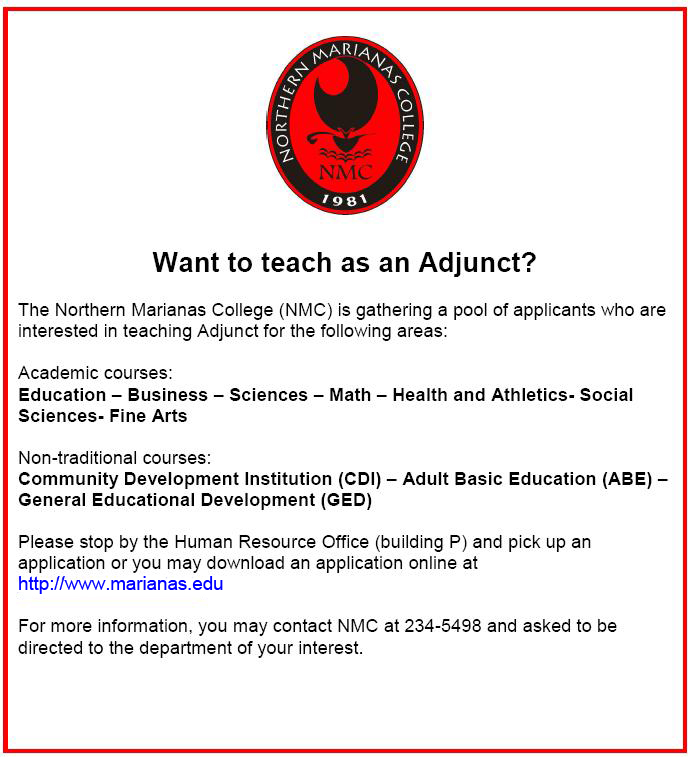 Want to Teach as Adjunct