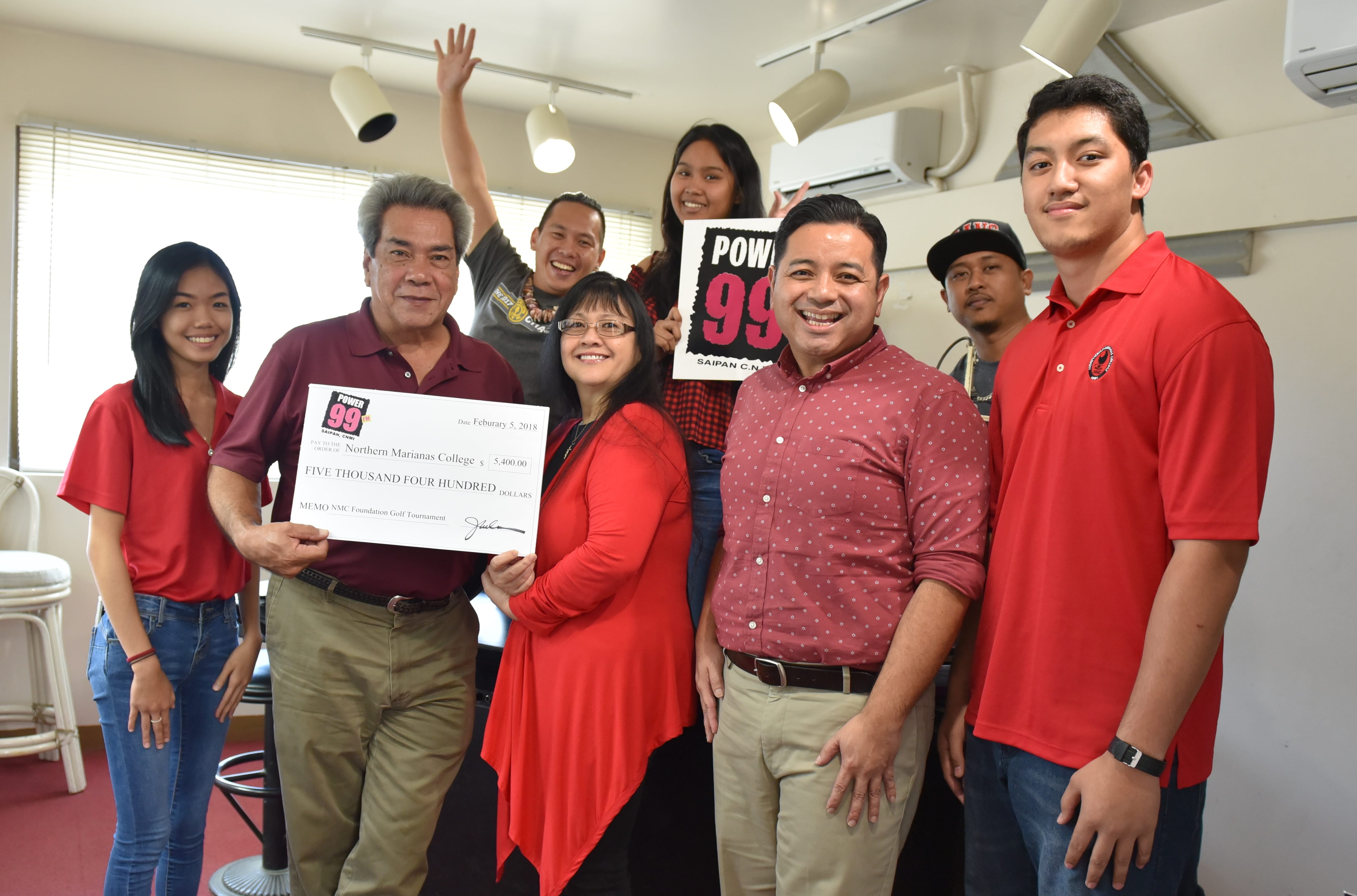 Power 99 recently donated over $5,000 in radio advertisements to Northern Marianas College in support of the annual NMC Foundation Golf Tournament that will be held on Saturday, March 3, 2018.