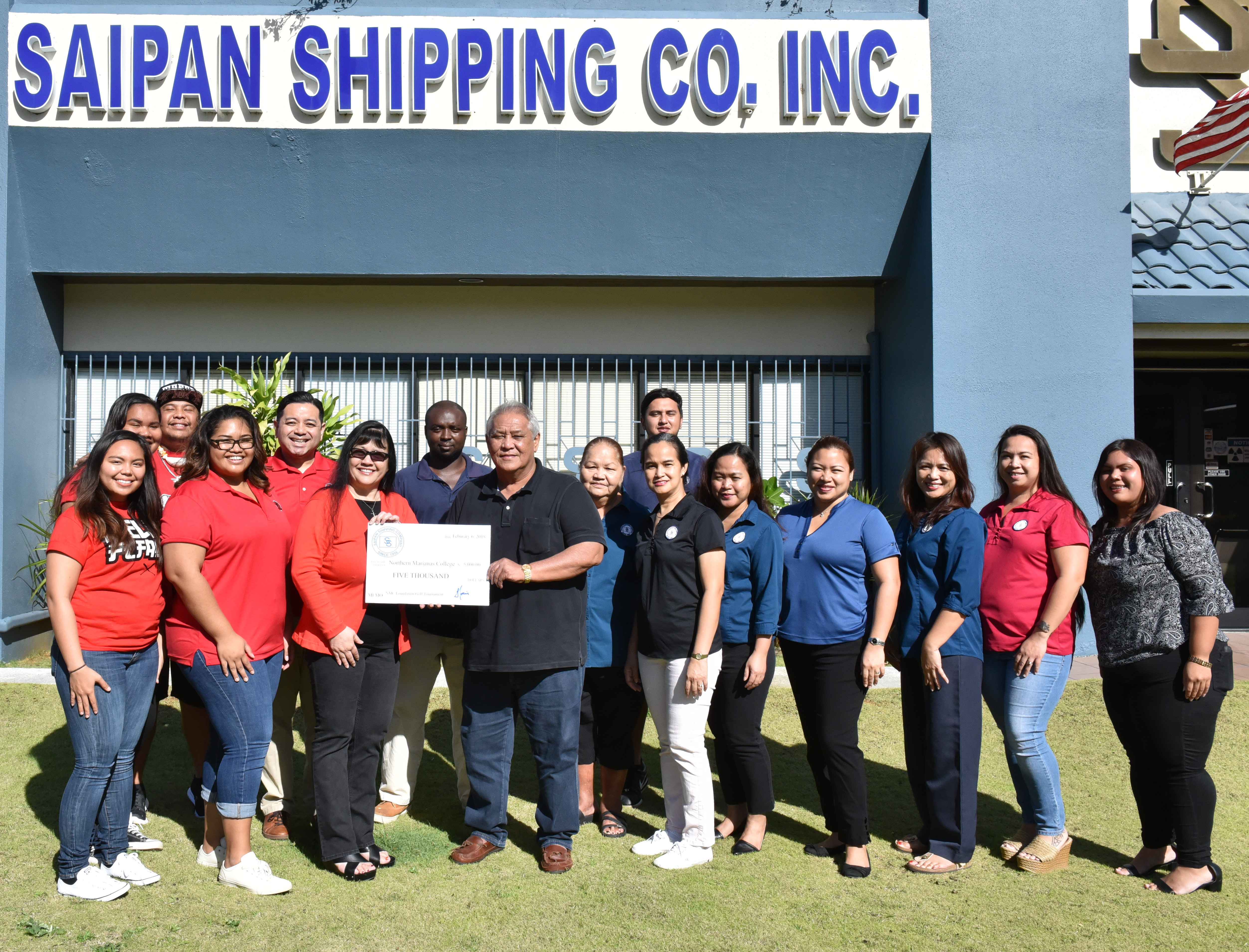 To support higher education in the CNMI, Saipan Shipping Inc. recently made a $5,000 donation to the NMC Foundation.